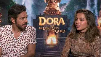 Platicamos con el elenco de la película de Dora