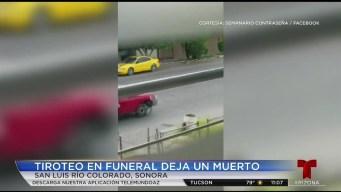 Arman tiroteo en funeral en Sonora