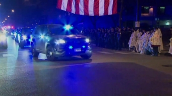 Honran con procesión a oficiales caídos en el cumplimiento del deber