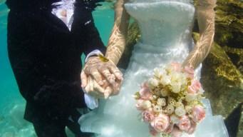Insólito y en video: parejas se casan bajo el agua