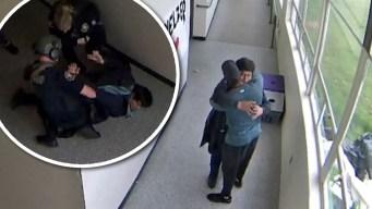 Viral: entrenador desarma a estudiante con un abrazo