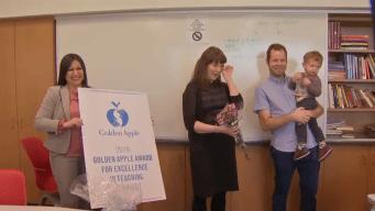 Reconocen a maestros de Illinois con galardón 'Golden Apple'