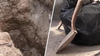 Trágico final: las hallan enterradas en patio de una casa