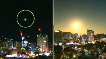 Captado en video: meteorito transforma la noche en día