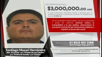 """Capturan a """"El Carrete"""", líder de una banda criminal"""
