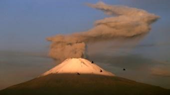 Volcán registra 153 exhalaciones en menos de 24 horas