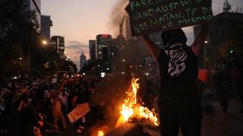 México: actos vandálicos durante marcha contra violencia