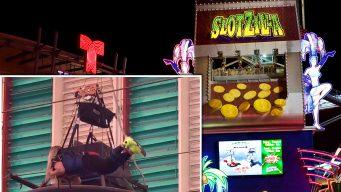 En video: queda atorada en las alturas en atracción de Las Vegas