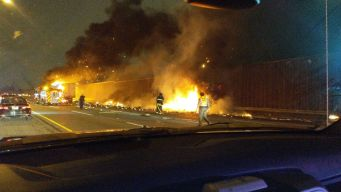 Choque y explosión en la I-294 deja un herido