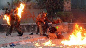 """Protestas en Chile: """"maestra, ¿estamos en guerra?"""""""
