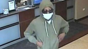 Buscan al sospechoso de robar un banco en Lincoln Park