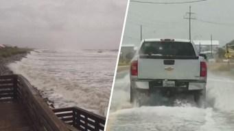 En imágenes: así comienza a sentirse la tormenta tropical Barry en Luisiana
