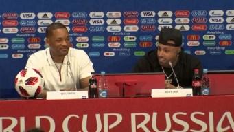 Nicky Jam y Will Smith listos para clausura del Mundial