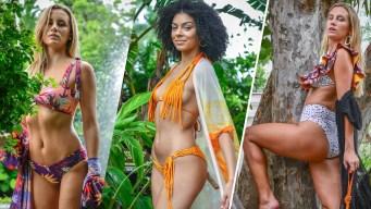 Sensuales modelos presentan diseños de trajes de baño de marcas colombianas