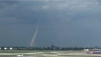Captan primer tornado dentro de Chicago desde 2006