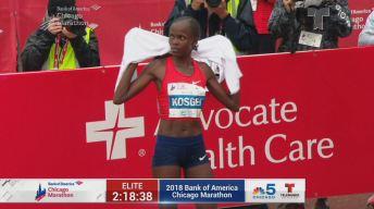 Brigid Kosgei gana el Maratón de Chicago 2018