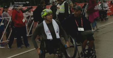 Ganador de la carrera masculina en silla de ruedas del Bank of Chicago Marathon