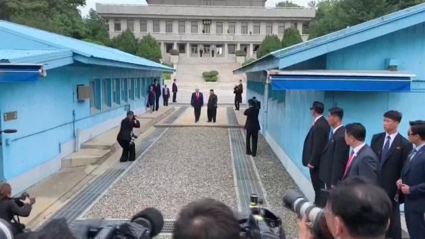 La improvisada e histórica cumbre entre Trump y Kim