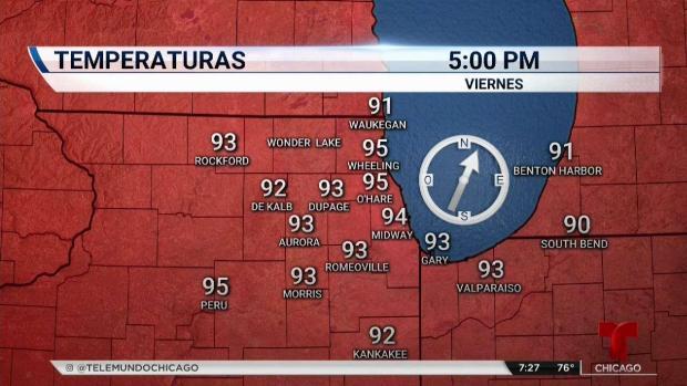 Aviso de calor extremo para toda el área de Chicago