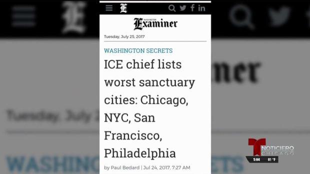 Chicago peor ciudad del país según ICE