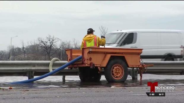 Cierre de vías debido a inundaciones en zonas de Chicago