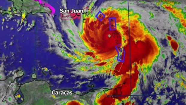 Siga el recorrido del huracán María que volvió a ser categoría cinco