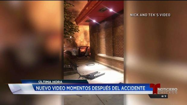Impactante video tras mortal accidente en River North