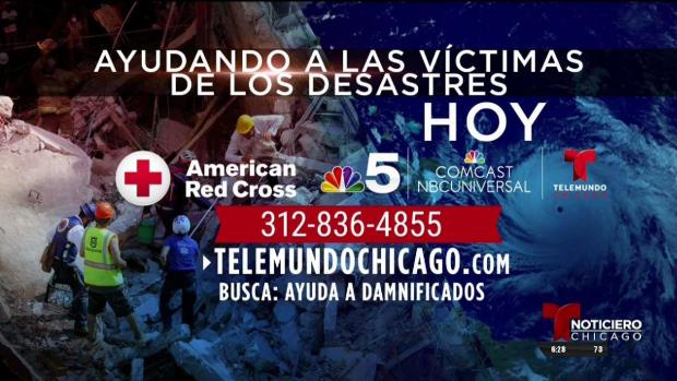 Llama hoy y ayuda a las víctimas de los terremotos y huracanes