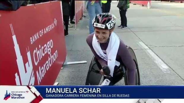 Manuela Schar: campeona carrera silla de ruedas 2019