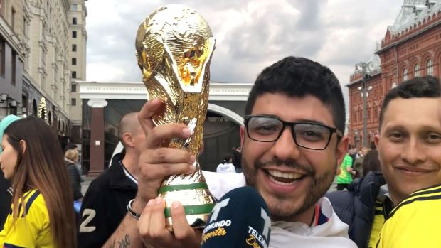 [World Cup 2018 PUBLISHED] Renunció al trabajo en Colombia y le mandó saludos a su jefe desde Rusia