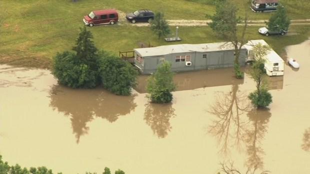 Fotos: bajo agua áreas de Chicago tras lluvia y tormentas