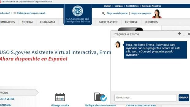 Emma: asistente virtual de USCIS ahora en español