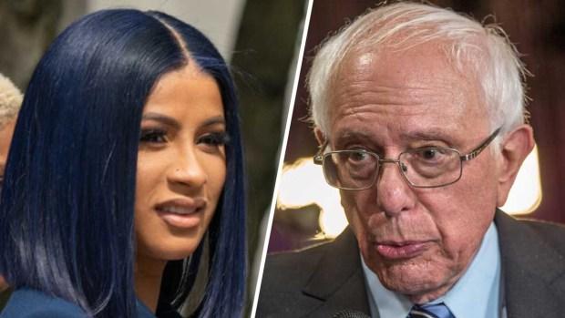 Sanders graba video con Cardi B para campaña presidencial