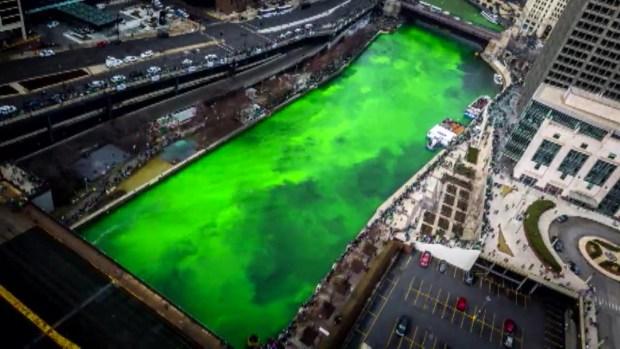 ¡Este mes! de verde se tiñe el río Chicago por San Patricio
