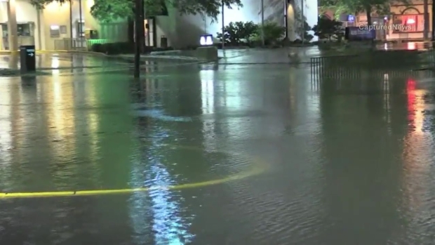 Inundaciones a lo largo de Fox Lake en IL