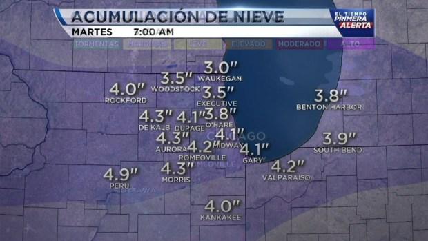 Chicago y alrededores bajo advertencia de tiempo invernal