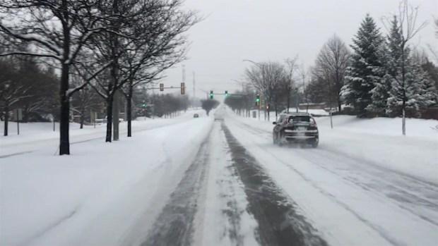 De Naperville a Chicago en medio de la tormenta de nieve