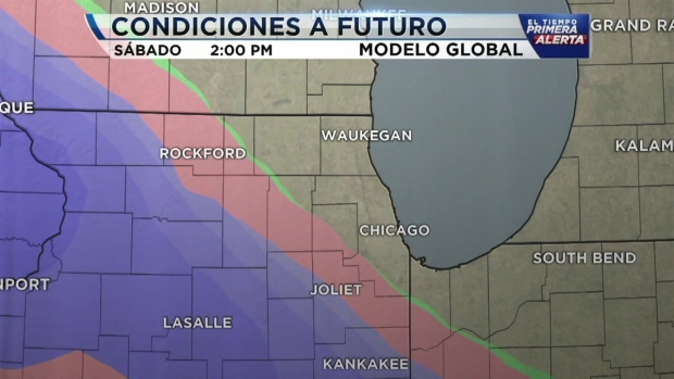 Advertencia de tiempo invernal en áreas de Chicago