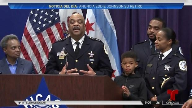 Jefe de la policía de Chicago, Eddie Johnson anuncia jubilación