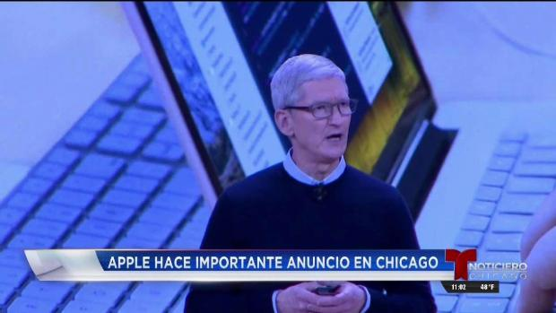 Apple presenta nuevo iPad en secundaria de Chicago