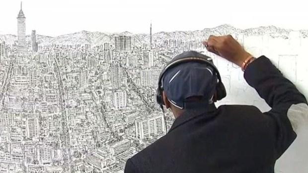 Increíble: artista con autismo retrata ciudades de memoria