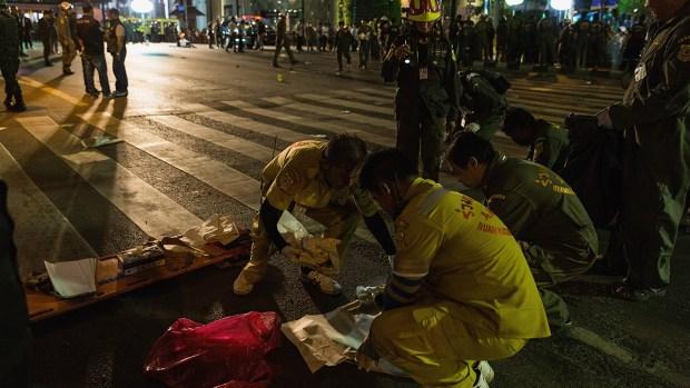 Fotos:  Mortal atentado con bombas en Bangkok