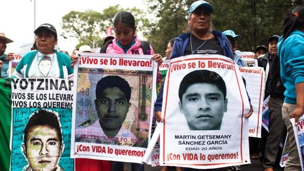 Dolor por Ayotzinapa: tres años y ni rastros de los estudiantes
