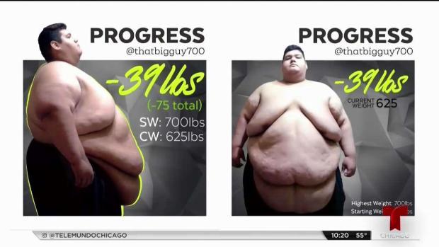 Joven de Chicago decide bajar 500 lbs e inspira a miles en redes sociales
