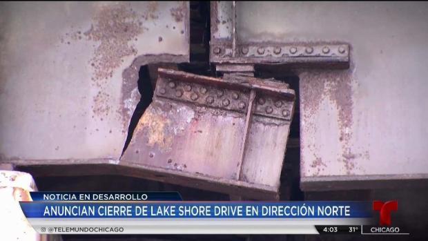 Grieta en puente causa cierres en Lake Shore Drive