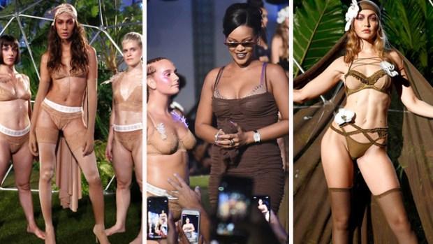 """Rihanna presenta línea de ropa interior para mujeres """"salvajes"""" de todas las tallas"""