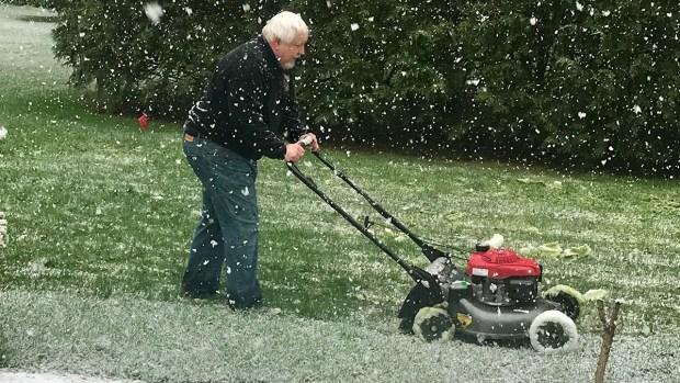 Así vivimos la repentina tormenta de nieve en plena primavera