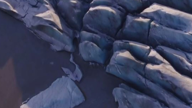 Increíble: desde el aire, cómo se derriten los glaciares en Islandia