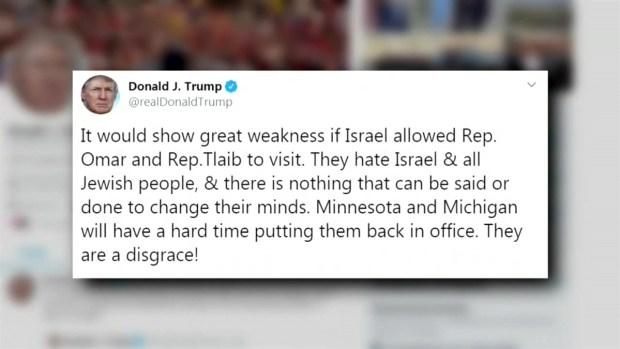 [TLMD - LV] Trump le pide a Israel que no deje entrar a congresistas musulmanas