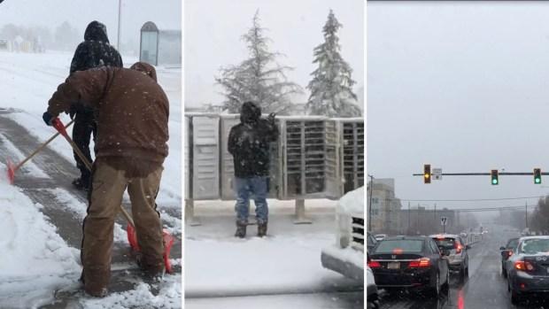 En video: residentes de Colorado se resisten a la tormenta invernal